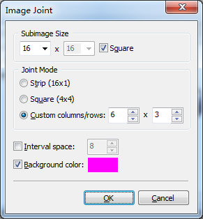 Export Image Strips/Grids Dialog